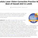 Aloha Laser Vision Wins KITV4 Best of Hawaii 2021 for LASIK